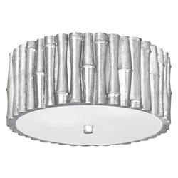 Crystorama Libby Langdon For  Masefield 2 Light Antique Silver Ceiling Mount