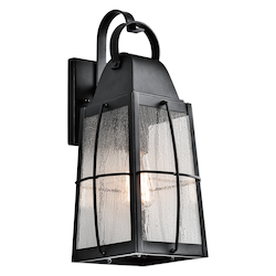 Kichler Open Box Textured Black Tolerand Collection 1 Light 17.75In. Outdoor Wall Light