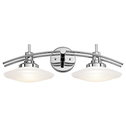 Kichler Structures Contemporary 2-Light Bath Lighting Chrome