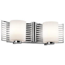Kichler Chrome Selene 16In. Wide 2-Bulb Bathroom Fixture