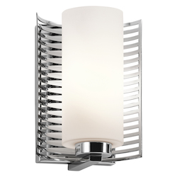 Kichler Chrome 1-Bulb Wall Sconce From The Selene Collection