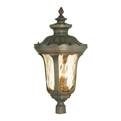 Livex Lighting Imperial Bronze Oxford 4 Light Lantern Outdoor Post Light