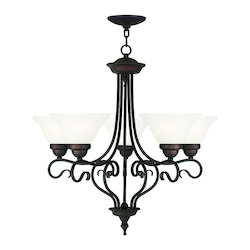 Livex Lighting Bronze Coronado 5 Light 1 Tier Chandelier