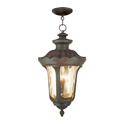 Livex Lighting Imperial Bronze Oxford 4 Light Outdoor Lantern Pendant