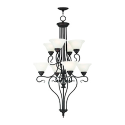 Livex Lighting Bronze Coronado 8 Light 2 Tier Chandelier