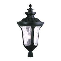 Livex Lighting Black Oxford 4 Light Lantern Outdoor Post Light