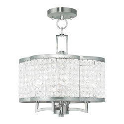 Livex Lighting Brushed Nickel Grammercy 4 Light Semi-Flush Ceiling Fixture