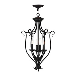 Livex Lighting Bronze Coronado 4 Light 1 Tier Chandelier