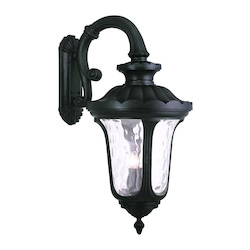 Livex Lighting Black Oxford 4 Light Outdoor Lantern Wall Sconce