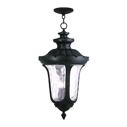 Livex Lighting Black Oxford 4 Light Outdoor Lantern Pendant