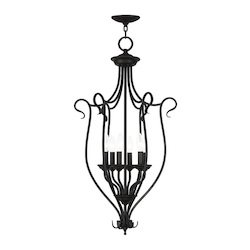 Livex Lighting Bronze Coronado 6 Light 1 Tier Chandelier
