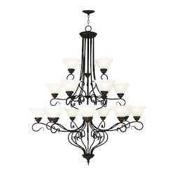 Livex Lighting Bronze Coronado 18 Light 3 Tier Chandelier