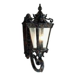 Trans Globe Four Light Patina Clear Seeded Glass Wall Lantern