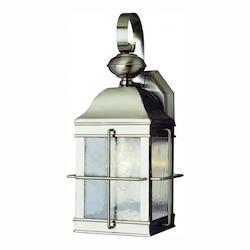 Trans Globe Open Box One Light Brushed Nickel Clear Seeded Rectangle Glass Wall Lantern