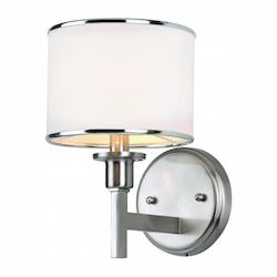 Trans Globe Open Box One Light Brushed Nickel Wall Light