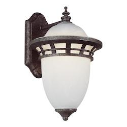 Trans Globe One Light Frosted Glass Antique Pewter Wall Lantern