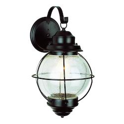 Trans Globe One Light Black Clear Seeded Glass Marine Light