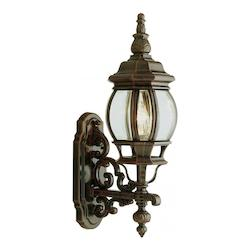 Trans Globe One Light Verde Green Clear Beveled Glass Wall Lantern