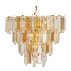 Trans Globe Open Box Thirteen Light Polished Brass Up Chandelier