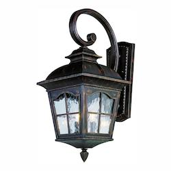 Trans Globe Open Box Two Light Black Clear Water  Glass Wall Lantern