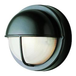Trans Globe Open Box One Light Verde Green Frosted Round Sunburst Ribbing Glass Marine Light