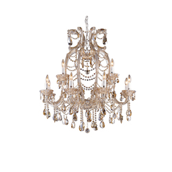 12 Light Champagne Crystal Chandelier