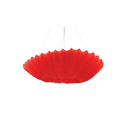 Bethel 4 Light Red Shade Ceiling Fixture