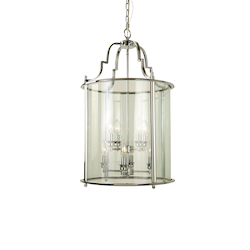 8 Light Chrome Ceiling Lantern