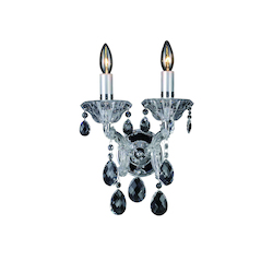 Bethel 2 Light Wall Sconce Clear Crystal