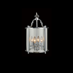 4 Light Chrome Ceiling Lantern