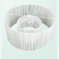 Bethel White Silk String Shade Only To Be Retrofit Small
