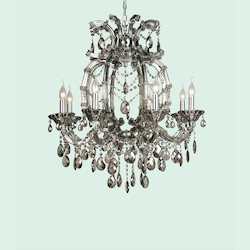 Bethel 8 Light Smoky Color Crystal Chandelier