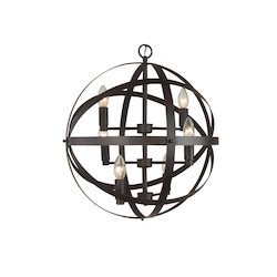 Bethel 4 Light Brown Pendant