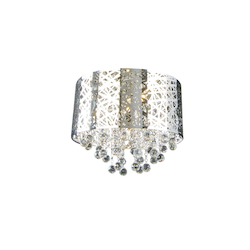 7 Light Clear Crystal Ceiling Flush Mount