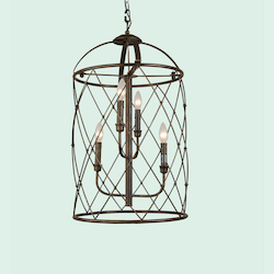 Bethel 4 Light Rust Chandelier