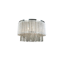 Bethel 8 Light Clear Crystal Chrome Ceiling Fixture