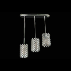 Bethel 3 Light Silver Frame Clear Crystal Ceiling Fixture