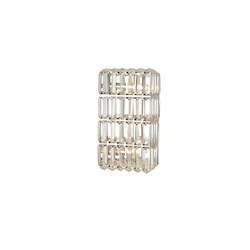 Bethel 3 Light Clear Crystal Wall Sconce