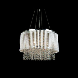Bethel 8 Light Clear Crystal Chrome Pendant Fixture