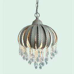 Bethel 1 Light Ceiling Fixture Inverted Flower Shape Cream