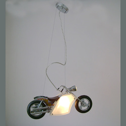 Bethel 2 Light Yellow/White Motorcycle Ceiling Fixture