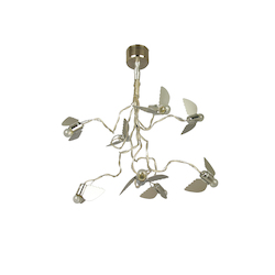 Bethel 8 Light Silver Flying Birds Ceiling Fixture