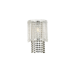 Bethel 1 Light Clear Crystal Wall Sconce