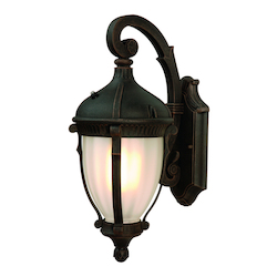 Artcraft One Light Optic Clear Glass Oil Bronze Wall Lantern