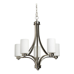 Artcraft Parkdale 5 Light  Polished Nickel Chandelier