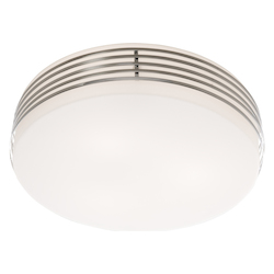 Artcraft  3 Light Flush Mount in Chrome