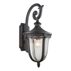 Artcraft One Light Seeded Clear Glass Graphite Wall Lantern