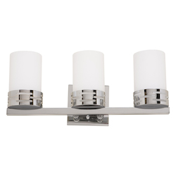 Artcraft Chrome 3 Light Bathroom Fixture From The Seattle Collection