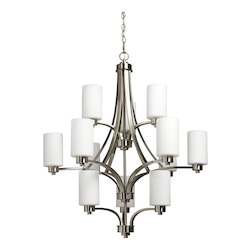 Artcraft Parkdale 12 Light  Polished Nickel Chandelier