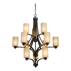 Artcraft Parkdale 12 Light  Oil Rubbed Bronze Chandelier